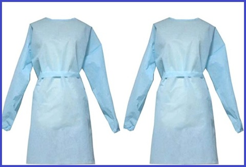 Camice Tessuto Non Tessuto Azzurro
