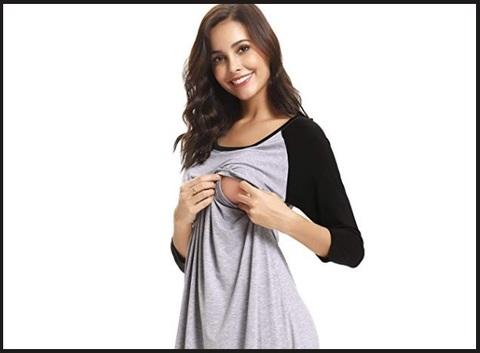 Camicia da notte premaman cotone estivo