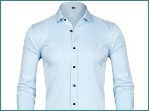 Camicia slim fit azzurra casual