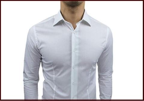 Camicia slim fit bianca elegante
