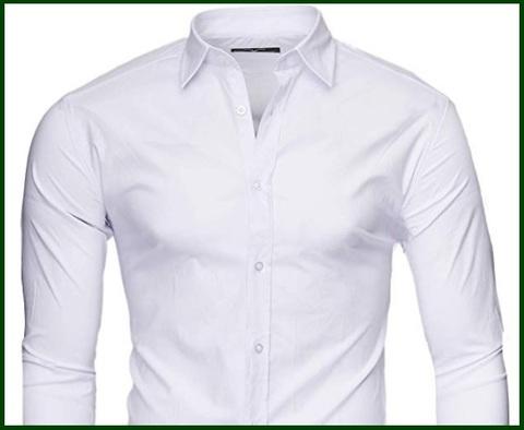 Camicia slim fit bianca maniche lungo