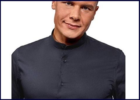 Camicia slim fit coreana uomo