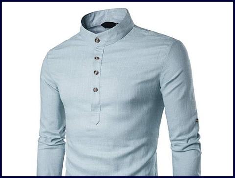 Camicia Slim Fit Coreana Casual