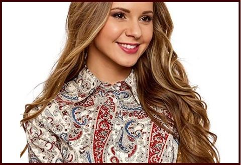 Camicia slim fit donna elasticizzata cotone