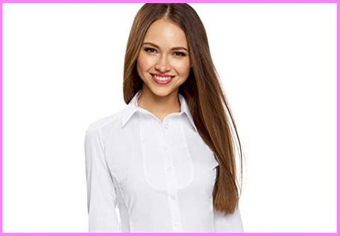 Camicia slim fit donna cotone