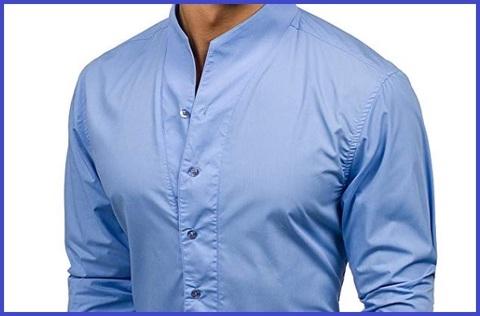 Camicia Slim Fit Uomo Coreana Maniche Lunghe