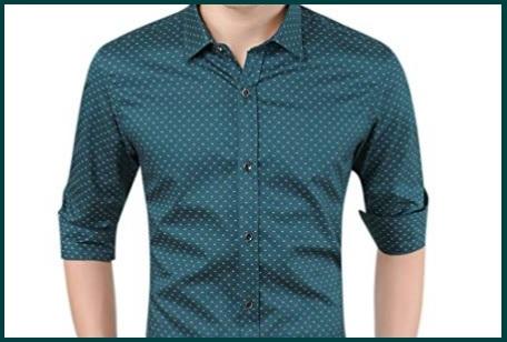 Camicie Slim Fit Elasticizzate Uomo