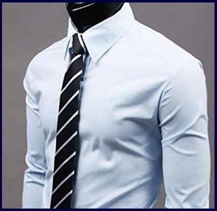 Camicie Slim Fit Elasticizzate Elegante