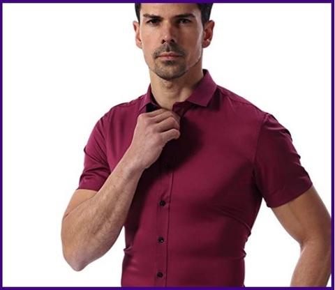 Camicie Slim Fit Manica Corta Casual