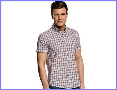 Camicie Slim Fit Manica Corta Quadretti