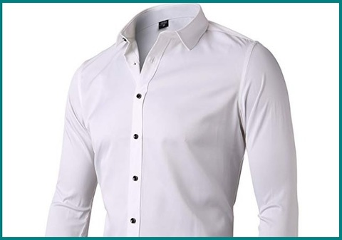 Camicie Slim Fit Manica Lunga Casual