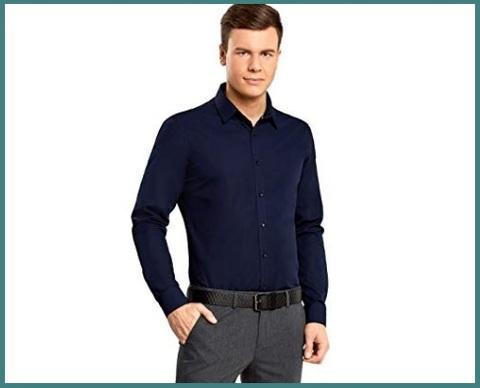 Camicie Slim Fit Manica Lunga Aderente