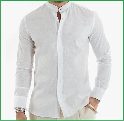 Camicia coreana uomo bianca