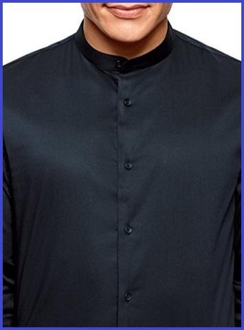 Camicia coreana uomo blu