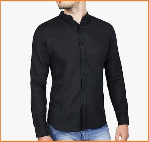 Camicia Coreana Nera