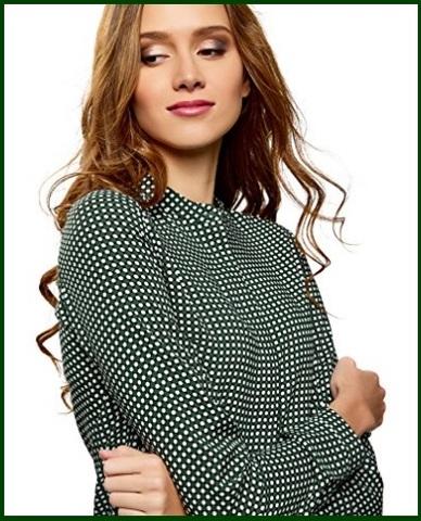 Camicia coreana verde donna
