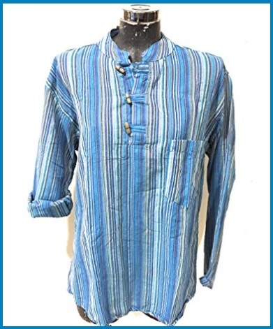 Collo Coreana Camicia Maniche Lunghe