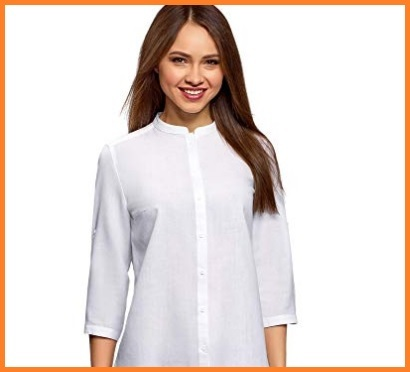 Camicia Coreana Bianca Donna