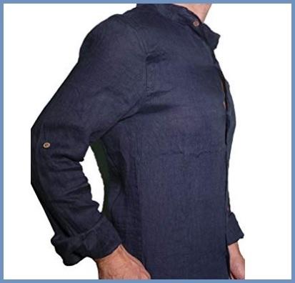 Camicia Coreana Blu Ragazzo