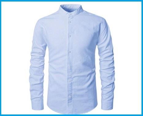Camicia Coreana Slim Fit Uomo