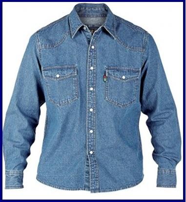 Camicia Jeans Uomo 3xl