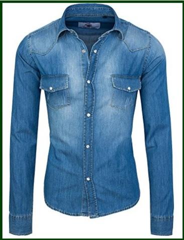 timeless design 75cd2 9f557 camicia jeans slim
