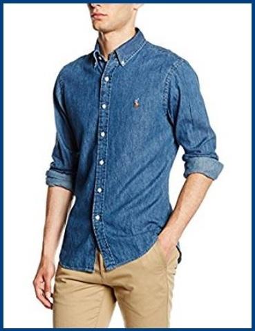 Camicia Jeans Uomo Aderente
