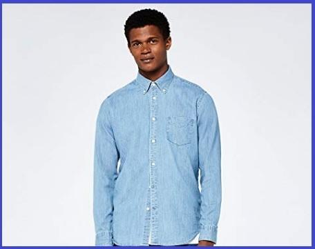 Camicia Jeans Slim Manica Lunga