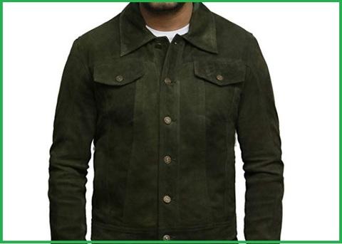 Camicia Jeans Uomo 3xl Verde