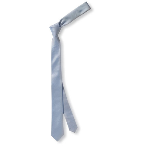 Cravatta da uomo sottile colore azzurro chiaro