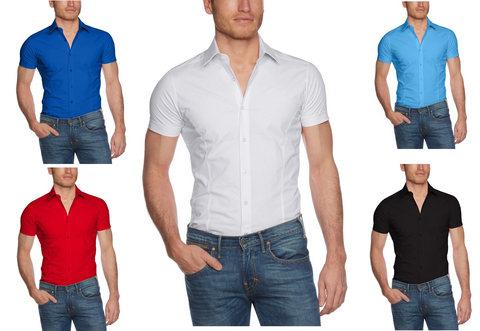 Camicia in vari colori manica corta da uomo
