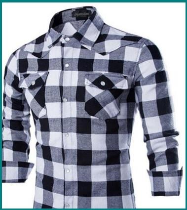 Camicia Uomo Particolare Fit A Scacchi