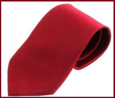 Cravatta Rossa Classica In Poliestere