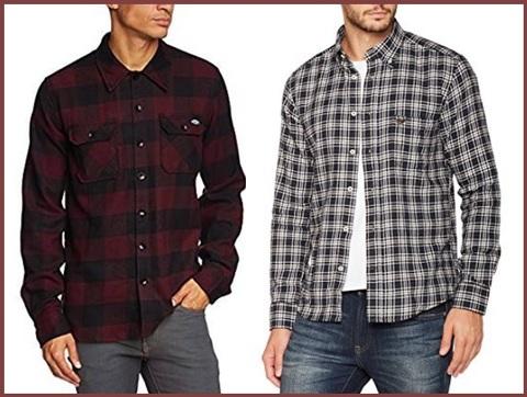 Camicie uomo classiche flanella