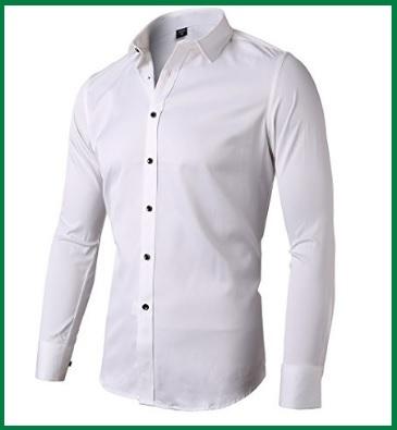 Camicie Uomo Bianche Slim