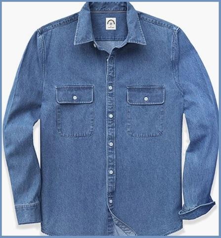 Camicia Jeans Uomo Manica Lunga