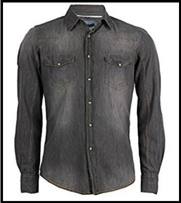 Camicia jeans uomo grigia