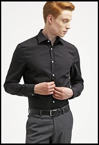Camicie classiche uomo nere