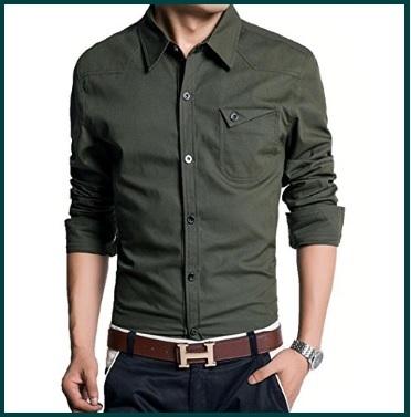 Camicie militari uomo maniche lunghe