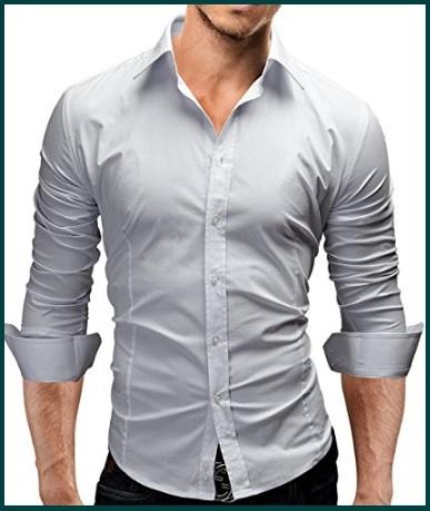 Camicia sportiva da uomo slim fit