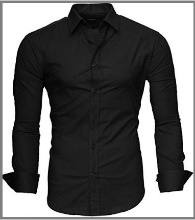Camicia uomo slim fit elegante nera