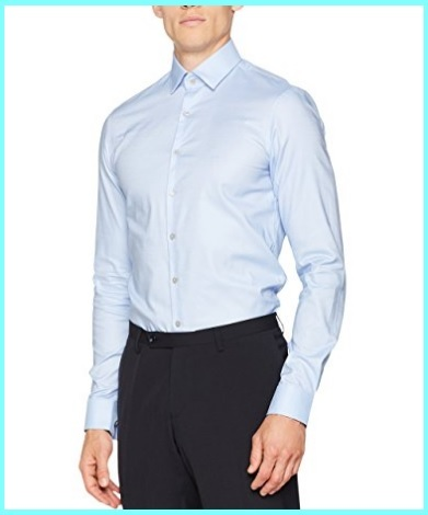 Camicia azzurra uomo slim fit