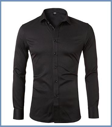 Camicia uomo nera slim fit