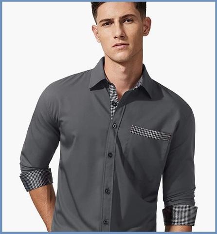 Camicia grigio perla uomo