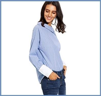 Camicia lunga asimmetrica