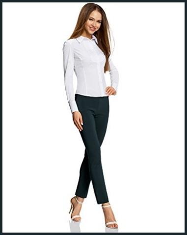 Camicia bianca femminile in cotone