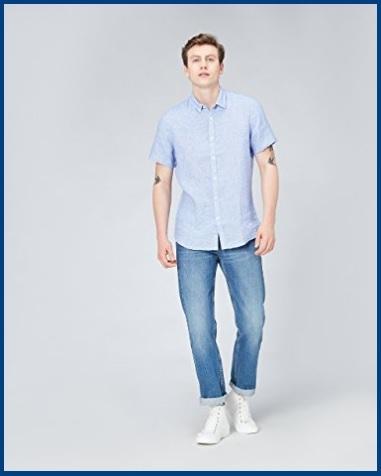 Camicia uomo manica corta lino