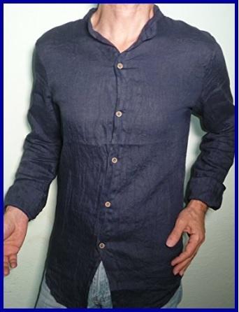 Camicia lino uomo slim