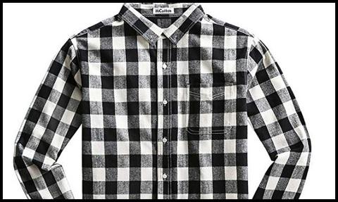 Camicie invernali a quadretti uomo