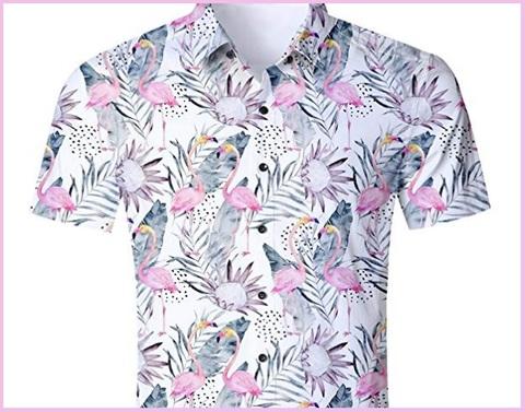 Camicia estiva uomo fiori